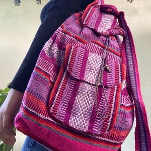 Mexican Authentic Pink and Purple Backpack